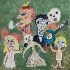 """""""Musicians,"""" date unknown, © Jon Serl Trust Moving To California, Art Brut, Philadelphia Museum Of Art, Naive Art, Outsider Art, Ceramic Painting, Art Inspo, Folk Art, Sculpture"""