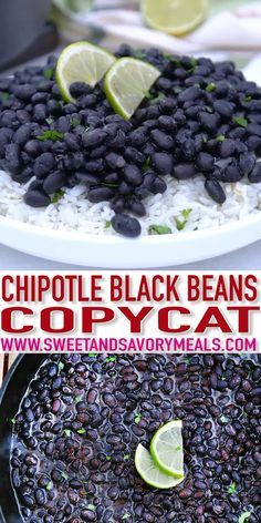 Chipotle Black Beans Recipe (Copycat) with Video – Sweet and Savory Meals Chipotle Black Beans is one of the most popular dishes of the restaurant and in this recipe, we will recreate that in a simple but tasty Mexican dish! Mexican Dishes, Mexican Food Recipes, Vegetarian Recipes, Cooking Recipes, Healthy Recipes, Healthy Black Bean Recipes, Mexican Beans Recipe, Mexican Beans And Rice, Mexican Black Beans