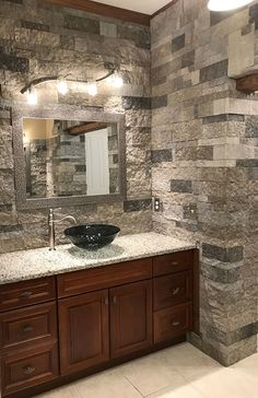 Good Photo Fireplace Remodel airstone Tips – Rebel Without Applause Airstone Fireplace, Fireplace Remodel, Fireplaces, Basement Remodel Diy, Basement Remodeling, Basement Ideas, Airstone Backsplash, Diy Home Repair, Living Room With Fireplace