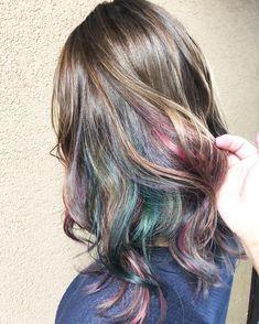 あさみあさみさんはInstagramを利用しています:「この夏のちょっと冒険😎✌️🌻 #インナーカラー#グレージュ#カラフル#レインボー#ユニコーン#マニックパニック」 Instagram, Hair Styles, Summer, Beauty, Dyes, Hairstyles, Hair, Beleza, Hair Makeup