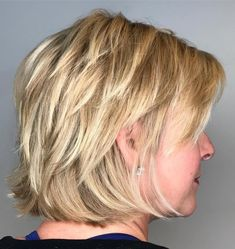 Blonde Shag With Short Layers