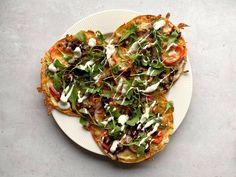 Creme Fraiche, Vegetable Pizza, Pesto, Vegetables, Food, Pai, Alternative, Essen, Vegetable Recipes