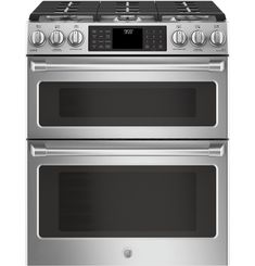 Slide-In Stainless Steel 6.7 CF Double Oven Convection Gas Range