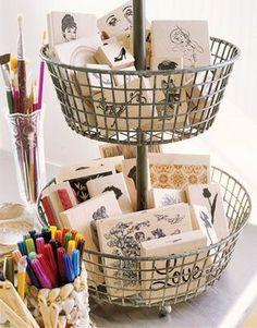 Stamps storage: basket
