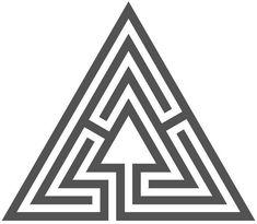 Ein dreigängiges dreiachsiges Labyrinth