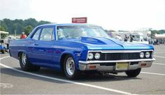 1966 Chevy Biscayne in a beautiful  blue hue.