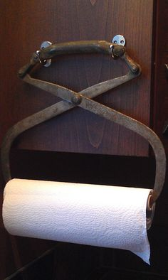 Vintage Ice Tongs now a Paper Towel Holder