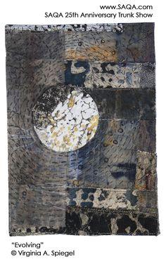 Art quilt by Virginia A. Spiegel #artquilts #SAQA