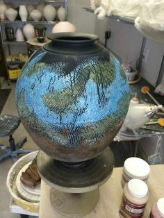 Chad Jerzak raku pottery in Minnesota