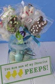 Easter craft. dip & decorate peeps.