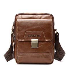 New Men Shoulder Bag iPad Tablet Men Cross Body Bag Genuine Cowhide Leather Port Cowhide Leather, Leather Bag, Ipad Bag, Satchel, Crossbody Bag, Leather Portfolio, Messenger Bag Men, Briefcase, Shoulder Bag
