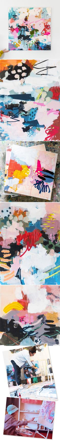 The Jealous Curator /// curated contemporary art /// andrea soos Canadian Painters, Colorful Abstract Art, Post Impressionism, Online Gallery, Jealous, Contemporary Art, Sculptures, Childhood, Vibrant