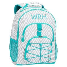 67ff91634364 Gear-Up Gray Preppy Diamond Backpack
