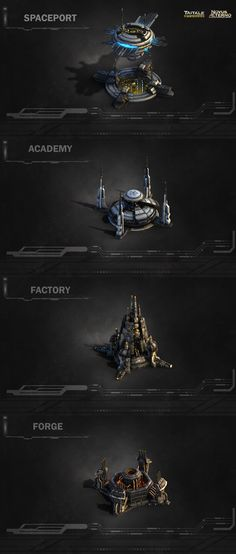 Sci-Fi RTS Buildings - Polycount Forum