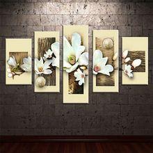 5 adet/takım özet modern tuval duvar sanatı dekoratif kalın doku resim oturma odası ev için tuval üzerine yağlıboya Dekor(China (Mainland))