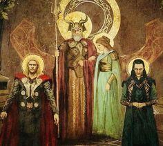 Asgard Royalty || Thor, Odin, Frigga & Loki || Cr: 트렘