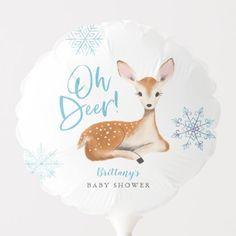 Oh Deer Rustic Blue Woodland Baby Shower Balloon Baby Shower Ballons, Baby Shower Themes, Shower Ideas, Woodland Theme, Woodland Baby, Woodland Forest, Oh Deer, Baby Deer, Winter Shower