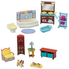 Fisher Price Loving Family Dollhouse Living Room And Bathroom Furniture Set  Fisher Price Http