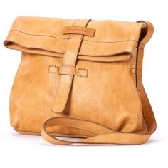 Frye Natural Artisan Foldover Crossbody (33765 RSD) ❤ liked on Polyvore featuring bags, handbags, shoulder bags, natural, leather cross body purse, leather purse, crossbody shoulder bags, genuine leather handbags and foldover crossbody