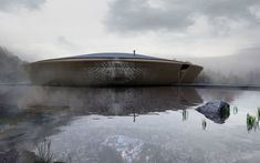 Antony Gibbon's Flux House appears to float on the water's surface