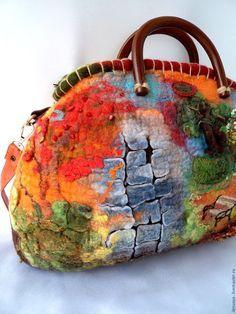 """Купить Валяная сумка """"ОСЕННЯЯ ПОРА"""" - рыжий, валяная сумка, войлочная сумка"""