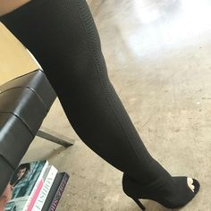 Knit Stiletto Boots