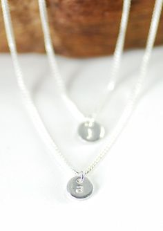 Haloa necklace double layered sterling silver