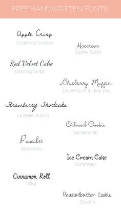 Sunday Freebie: 10 free handwritten fonts · Elan Blog Studio