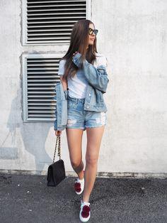 Summeroutfit Denim jacket Outfit ideas