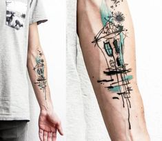 House tattoo by Lina Tattoo Art