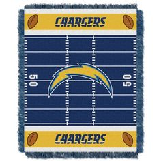 San Diego Chargers Baby Blanket Bedding Throw 36 x 46 #SanDiegoChargers