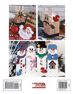 Leisure Arts - Christmas Characters in Plastic Canvas, $9.95 (http://www.leisurearts.com/products/christmas-characters-in-plastic-canvas.html)