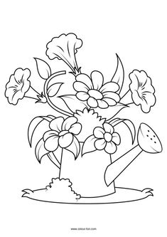 Best Picture For applique fabric For Your Taste You are looking for something, and it is going to tell you exactly what you are looking for, and you didn't find that picture. Here you will find the mo Preschool Coloring Pages, Easy Coloring Pages, Coloring Pages To Print, Coloring Books, Hand Embroidery Flowers, Embroidery Patterns, Flower Colouring In, Flower Coloring Sheets, Bird Template