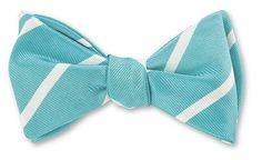Silk Bow Ties, Teal, Turquoise, Tie Styles, Swatch, Stripes, Bows, Mens Fashion, Handmade