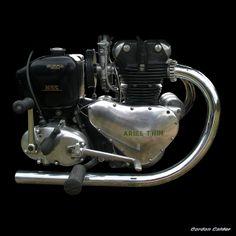 No 80 CLASSIC ARIEL TWIN ENGINE (500cc), by Gordon Calder