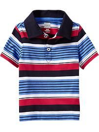 Striped Jersey Polos for Baby