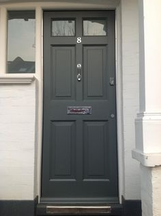How To Paint A Panel Exterior Door on