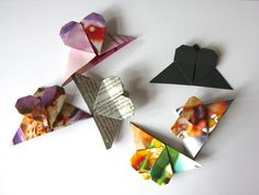 DIY Great video tutorial! How to make a heart-shaped bookmark using origami