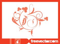 Swirl Flower Vector Graphic Design Element Free Download