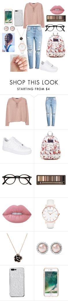 """""""FAVORITE OUTFIT"""" by reka15 on Polyvore featuring MANGO, H&M, NIKE, JanSport, Urban Decay, Lime Crime, Abbott Lyon, Miu Miu and Griffin"""