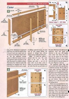 #1798 Shop Pegboard Cabinet Plans - Workshop Solutions Plans, Tips and Tricks