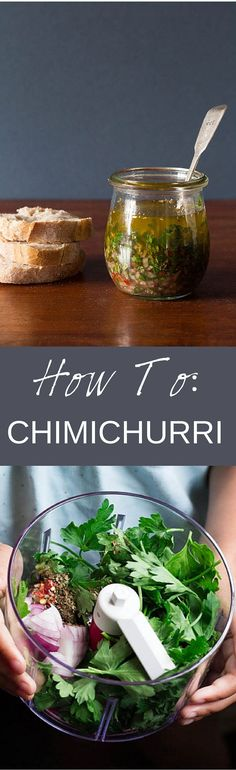 Chimichurri Recipe - Recipes From A Pantry. A quick guide on how to make chimichurri sauce which is perfect for grilled meat, fish and crusty bread. #chimichurri #vegan