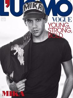 Mika on the cover of Vogue Italia (L'UomoVogue) June 2015