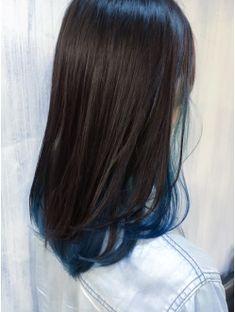 35 ideas for hair highlights blue medium lengths Hair Color Streaks, Blue Hair Highlights, Hair Color Blue, Hair Dye Colors, Cool Hair Color, Hidden Hair Color, Peekaboo Hair, Aesthetic Hair, Dyed Hair