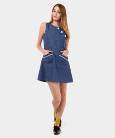 0356541daf diksí en privalia. Vestido azul  Vestido de color azul. • Diseño con  corazones