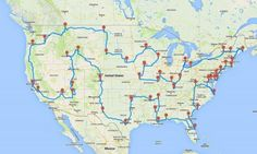 An amazing route across the United States that hits a major landmark in every state with no backtracking. They did the math and crunched the numbers. Seriously.