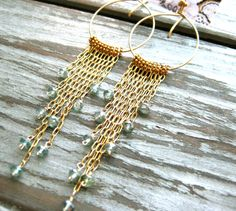 Undiscovered First 14kt Gold Filled Long Tassel by AstridLily