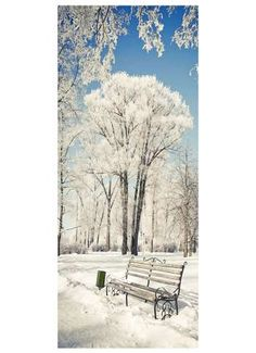 Verschneiter Park Motivdruck