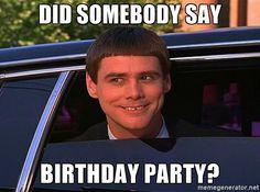 jim carrey birthday   did somebody say birthday party? - Jim Carrey Limo   Meme Generator