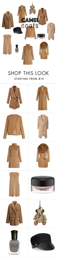"""Camel Coats"" by uniquely-styled ❤ liked on Polyvore featuring Joseph, See by Chloé, Dorothy Perkins, MaxMara, Monsoon, MAC Cosmetics, Burberry, Deborah Lippmann and Eugenia Kim"